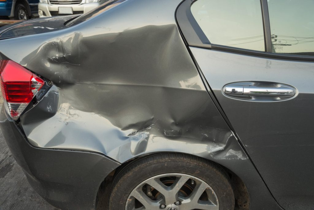 car after collision ready for repair